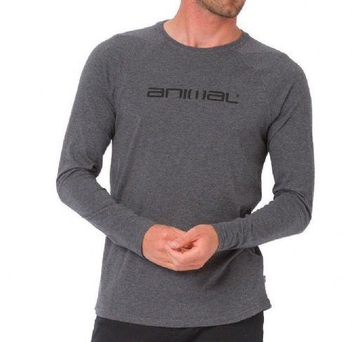 ANIMAL MENS LONG SLEEVED TOP.NEW ACTION COTTON GREY CREW T SHIRT TEE 8W 56 U20